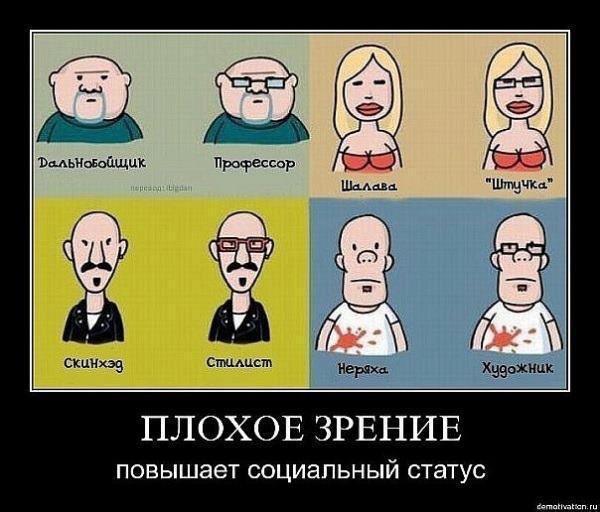 Демотиватор про очки