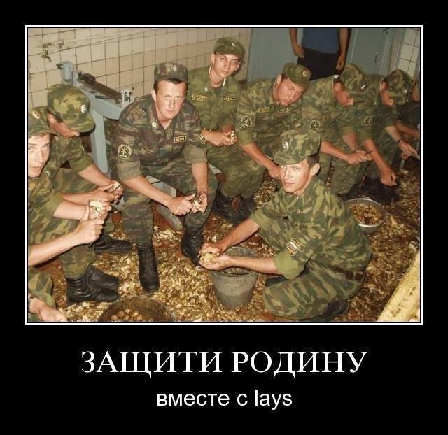 Демотиватор про армию и чипсы