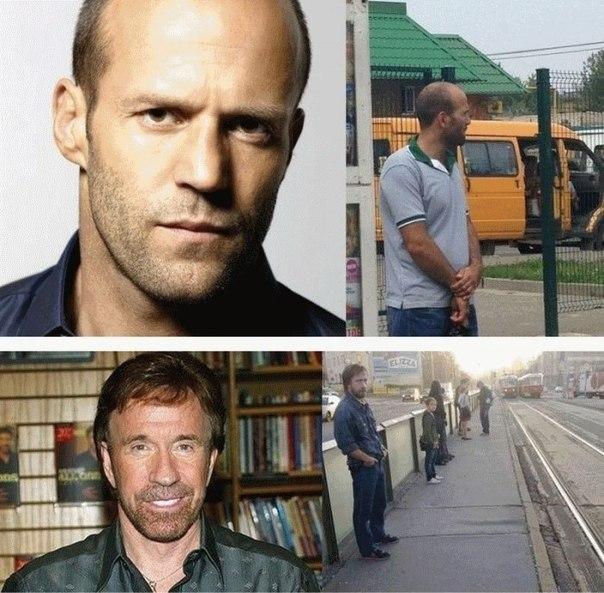 Стэтхем и Чак Норрис в России